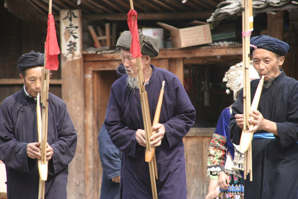 Người chơi Trung Quốc Langde Lusheng |  © Anja Disseldorp / Flickr